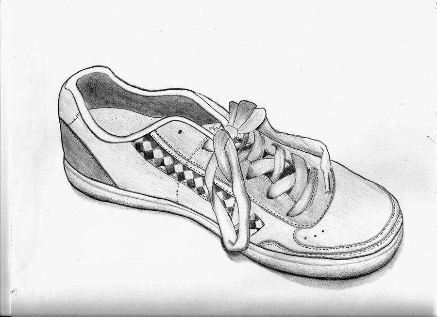 Drawing of Vans Shoes Vans Shoe Sketch by Alley9