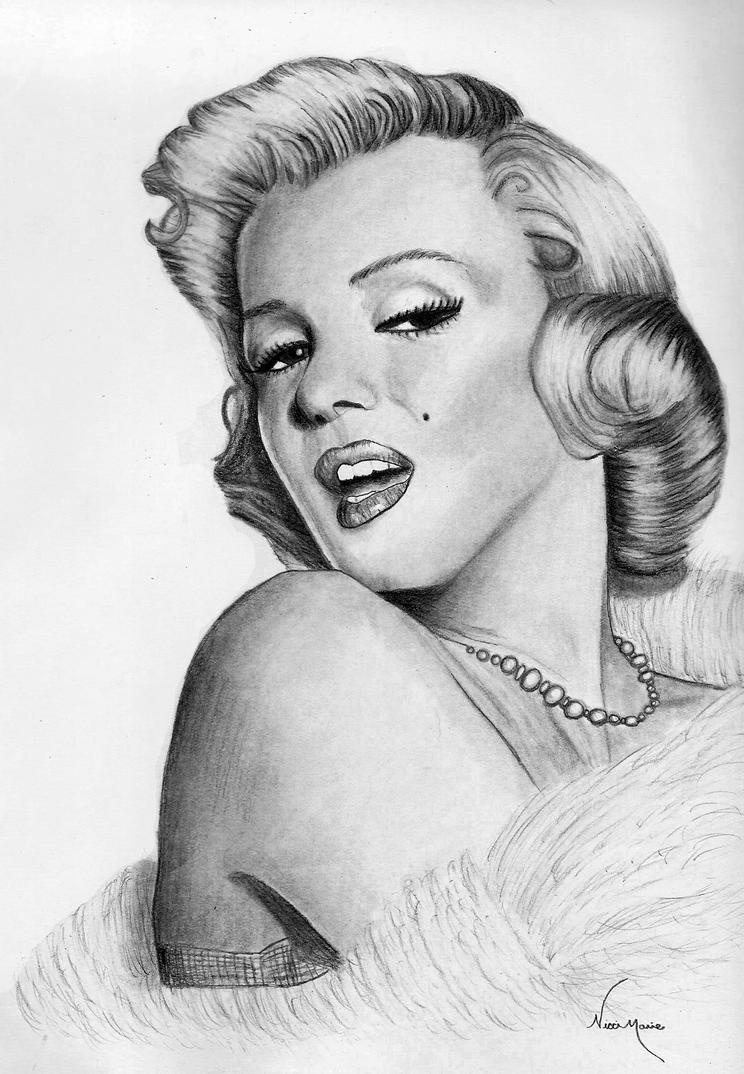 Marilyn Monroe Drawing by Alley9 on DeviantArt