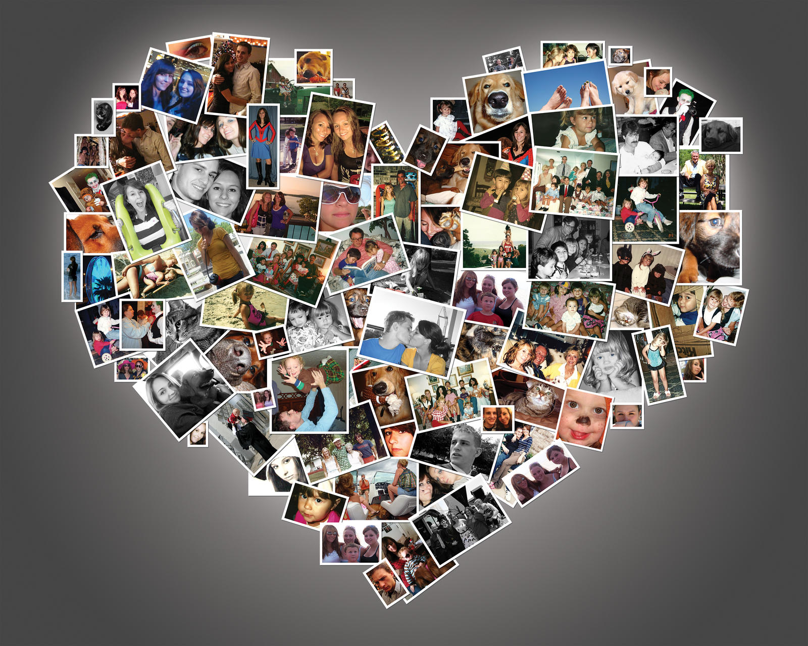 Wall Art Heart Collage : Heart photo collage by alley on deviantart