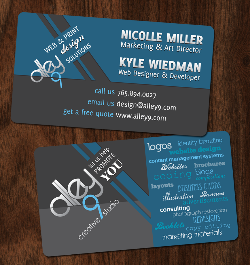 Creative Studio Business Card by Alley9 on DeviantArt