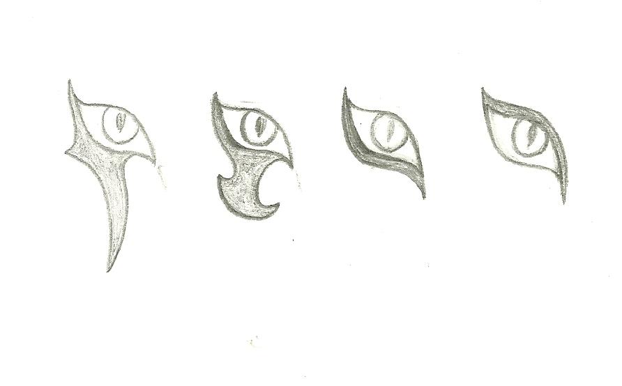 Female alien eye markings practice by ArtemisDragonheart