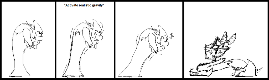 Hater and realistic gravity (doodle) by ArtemisDragonheart
