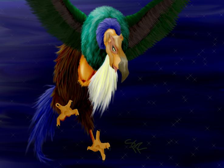 The Last Unicorn - Harpy by Feybraiha