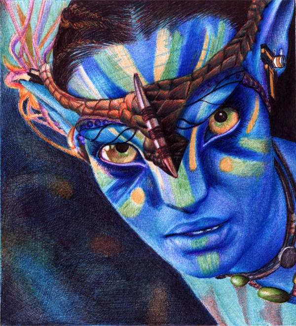 Neytiri Avatar: Neytiri From The Na'vi. Avatar. Bic Ballpoint Pen By