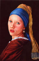 Girl With a Pearl Earring - Ballpoint Pen