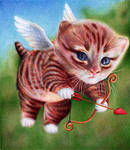Cupid Kitten - Ballpoint Pen - St Valentine's Day