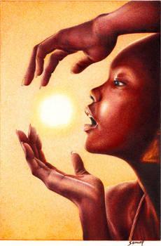 African Sunset - A Ballpoint Pen study