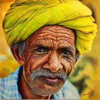 Elderly Man - A Ballpoint Pen Study