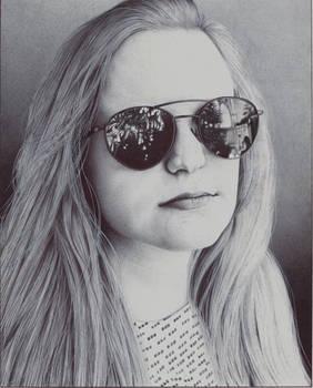 Sunglasses Girl - Ballpoint Pen