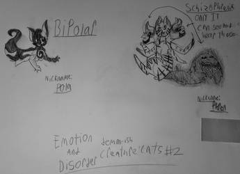 Emotion  Disorder Creature Cats #2 by TheColorlessCat