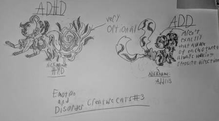 Emotion  Disorder Creature Cats #3 by TheColorlessCat