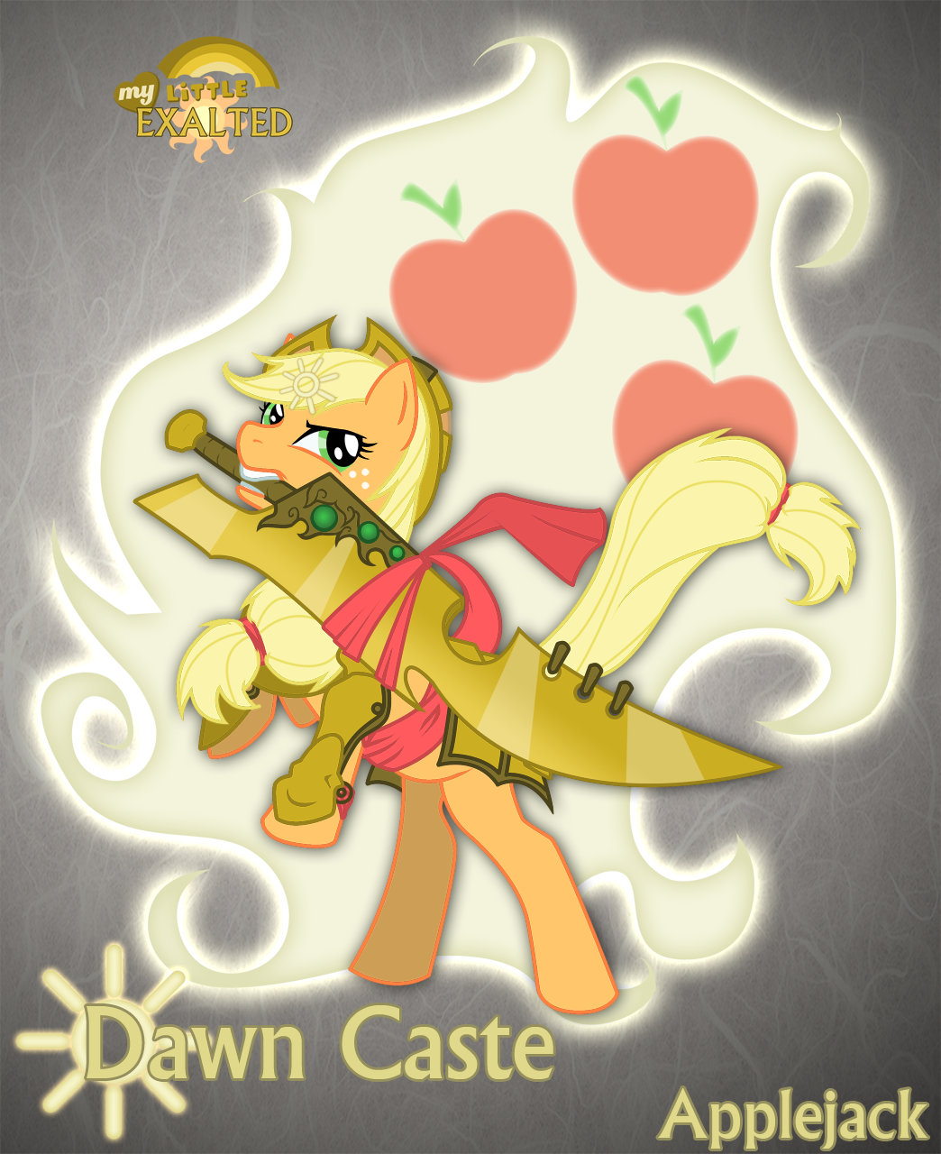 Dawn Caste Applejack by Rhanite