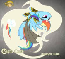 Night Caste Rainbow Dash by Rhanite