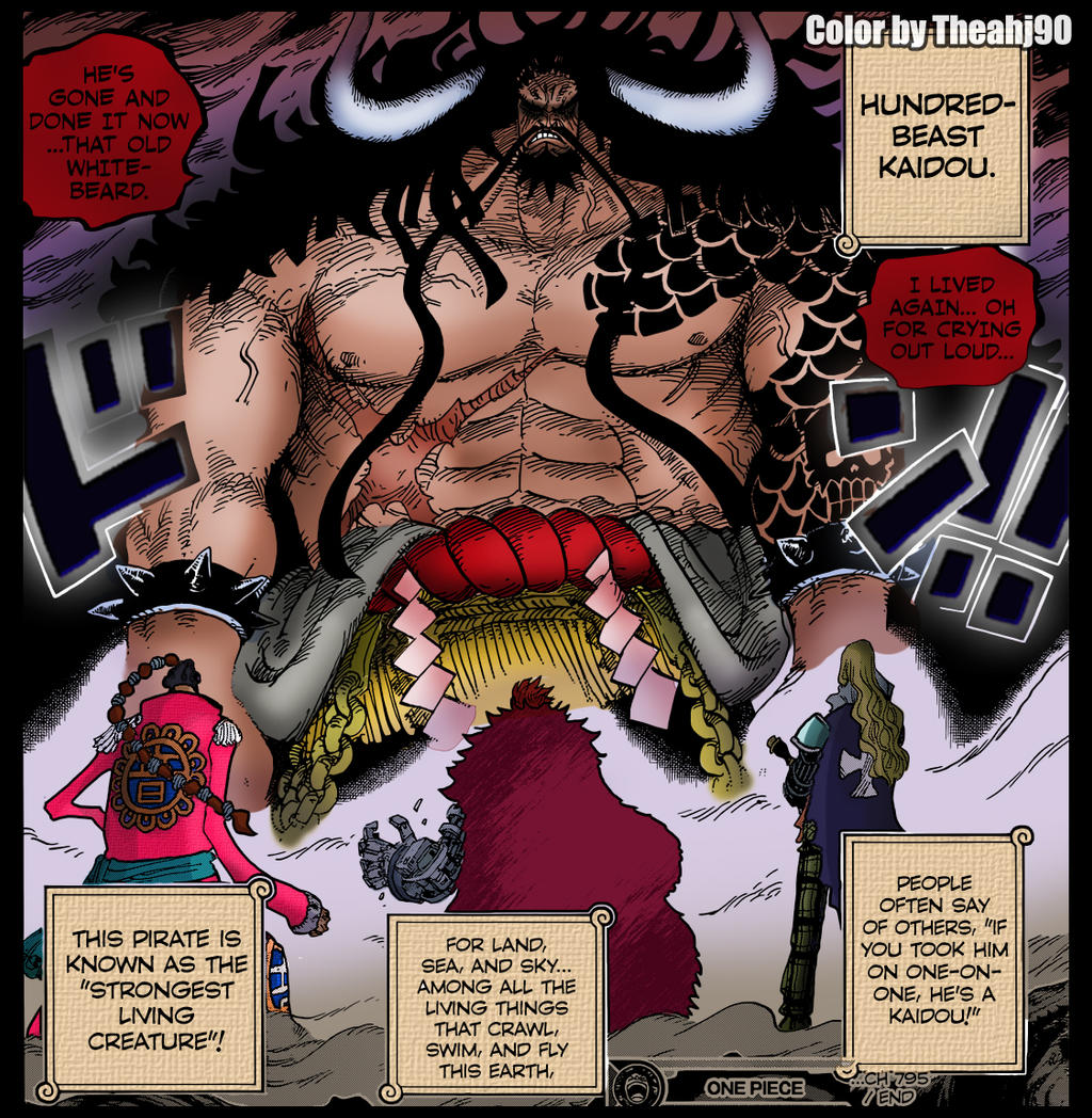 OP 795 Kaido's Debut Color By Theahj90 On DeviantArt