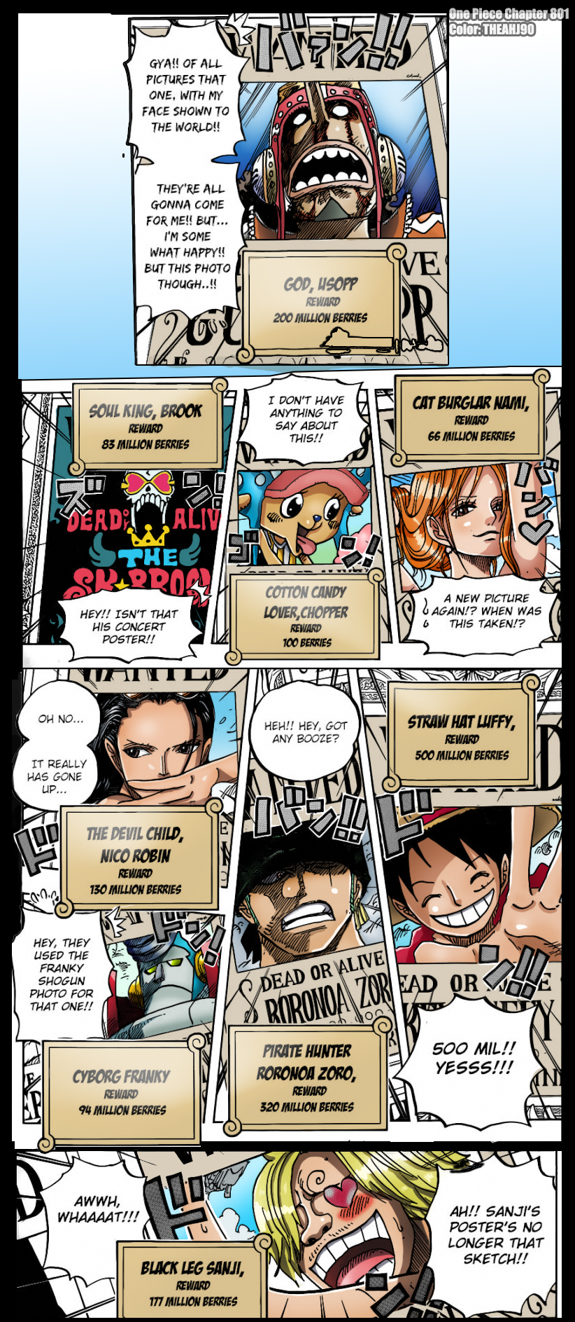 One Piece Chapter 801 Strawhat Pirates New Bounty by ...