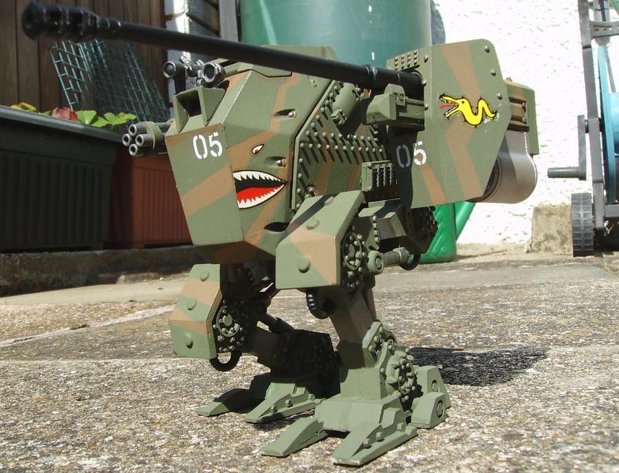 JAGDLUTHER walking panzer custom wip 2 by ThePrinceofMars