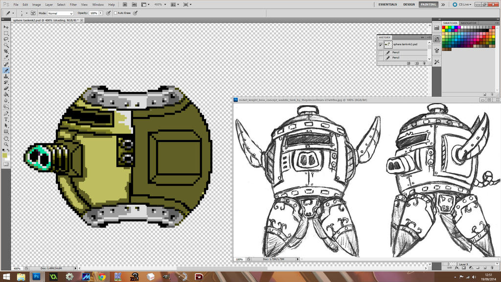 Waddle tank wip 1 Sprite Art Takes Forever!!!!!! by ThePrinceofMars