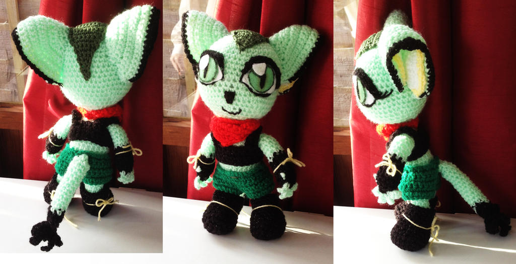 Carol Tea from Freedom planet crochet toy by ThePrinceofMars