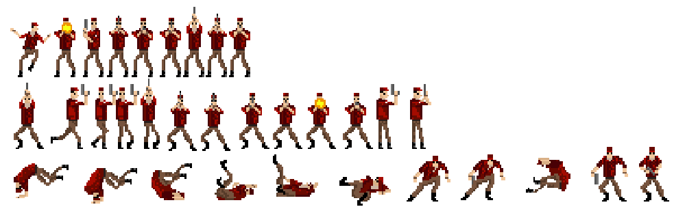 Time Crisis enemy sprites by ThePrinceofMars