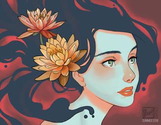 Lotus pool. by luyidraws