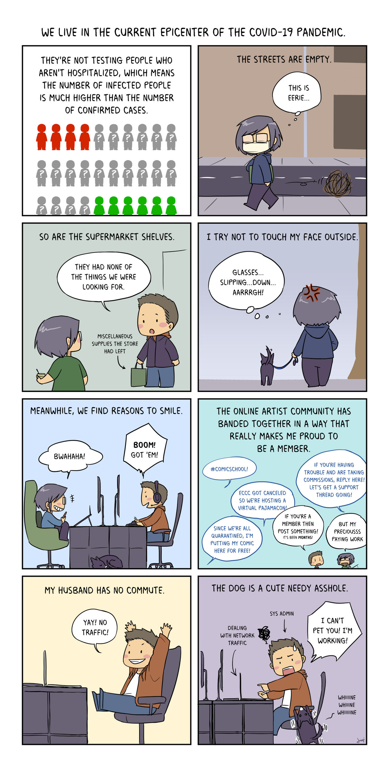 Diary comic during self-quarantine