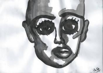 Ink Portrait by bulletproooof