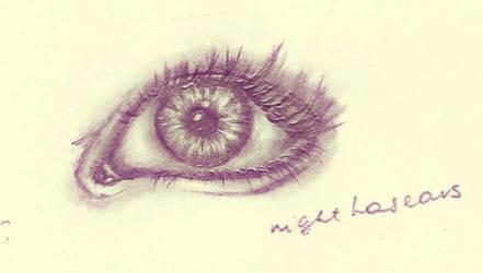 Eye in black and white by bulletproooof