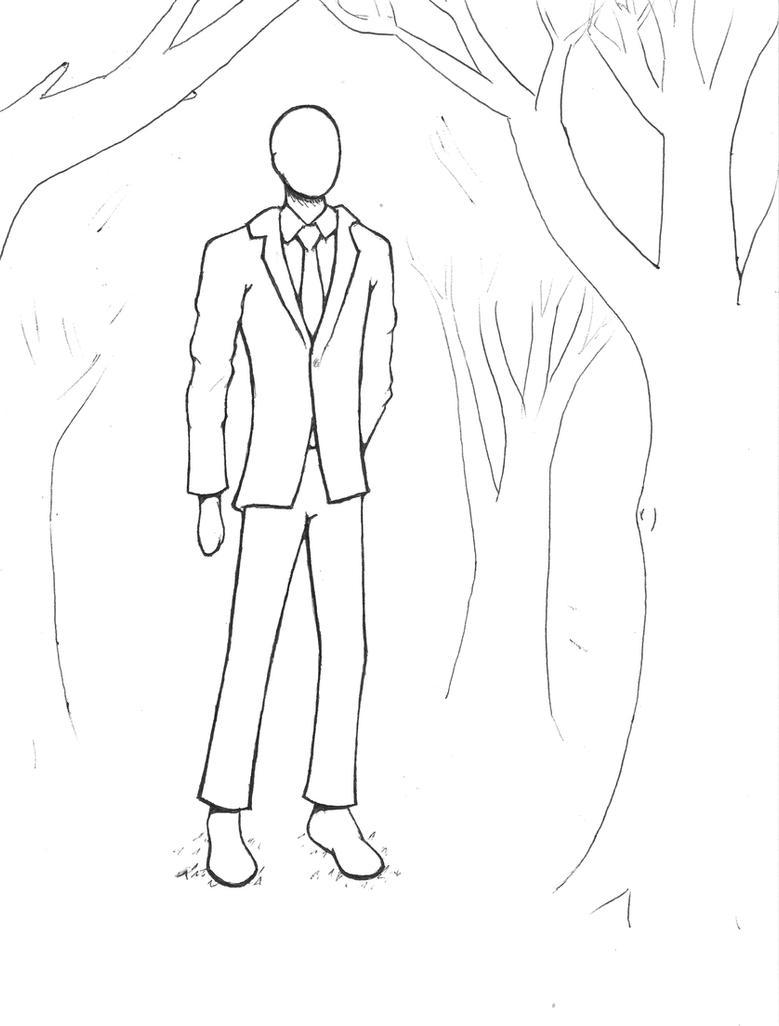 slender man coloring pages slenderman lineart by angelachapel on deviantart