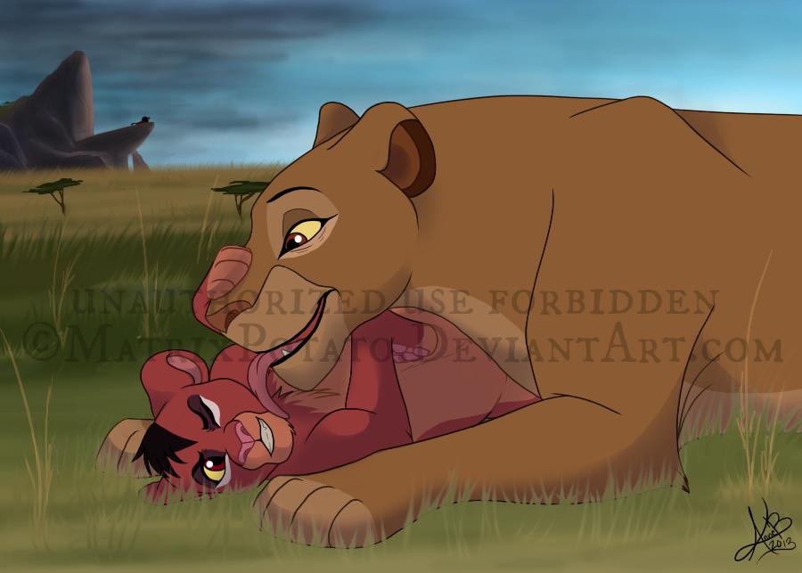 ''Mom, you're messing up my fur!'' by MatrixPotato