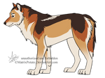 Wolf Design For Falon-pride by MatrixPotato