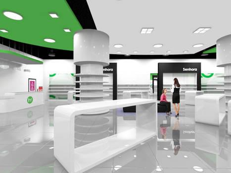 3D mockup of a store