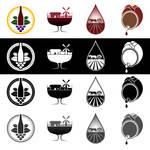 Wine company logo versions
