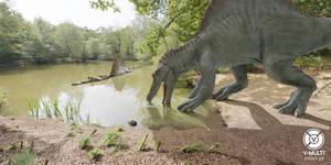 Spinosaurus relaxing