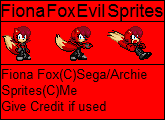 Fiona Fox Evil Sprites by TailsPrower13