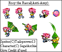 Anti Rosy the Rascal Sprites by TailsPrower13