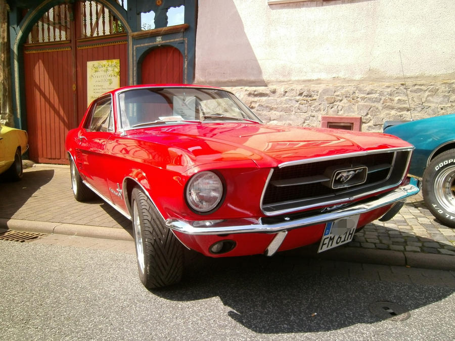 Red Ford Mustang 2 by Mayorati