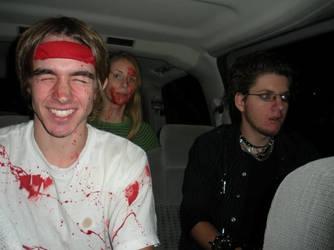 Bloody car ride