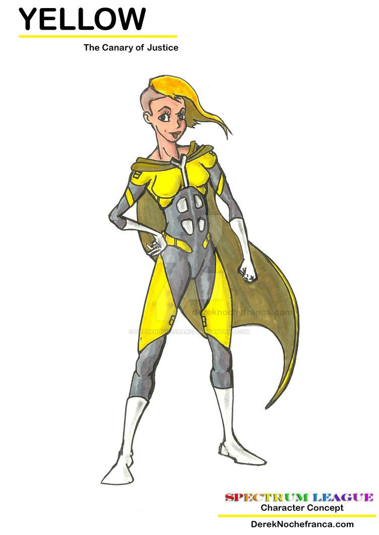Yellow canary superhero