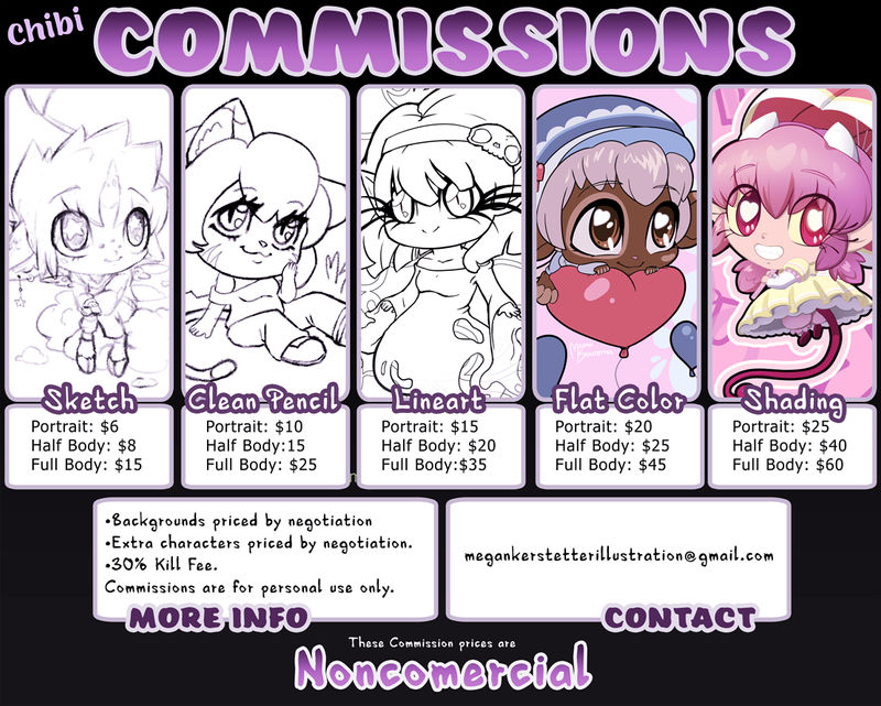 Chibi Commission Pricing (Noncomercial)