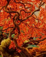 Red tree by LadyEru