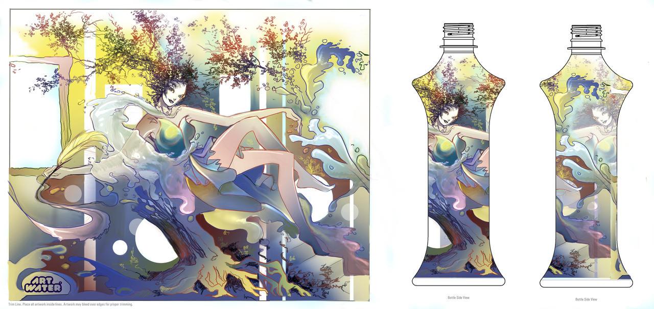 Flourish- water bottle contest by LadyEru