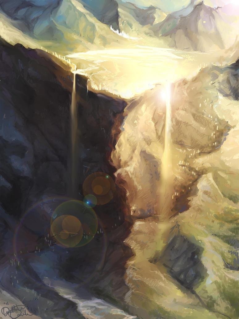 Cliffs Of Lladommeras by LadyEru