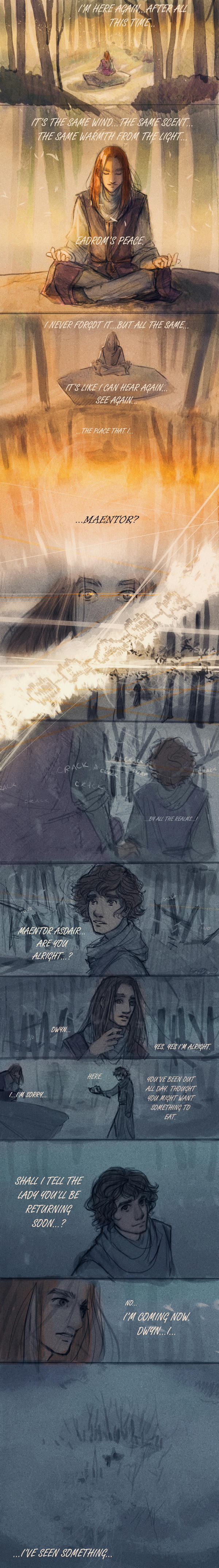 Asdair in the woods by LadyEru