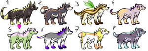 CLOSED - Canines Adoptables 109 by RigelAdopts