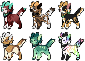 3/6 OPEN - Smol Emo Doggos [ADOPTS][Lowered Price] by RigelAdopts