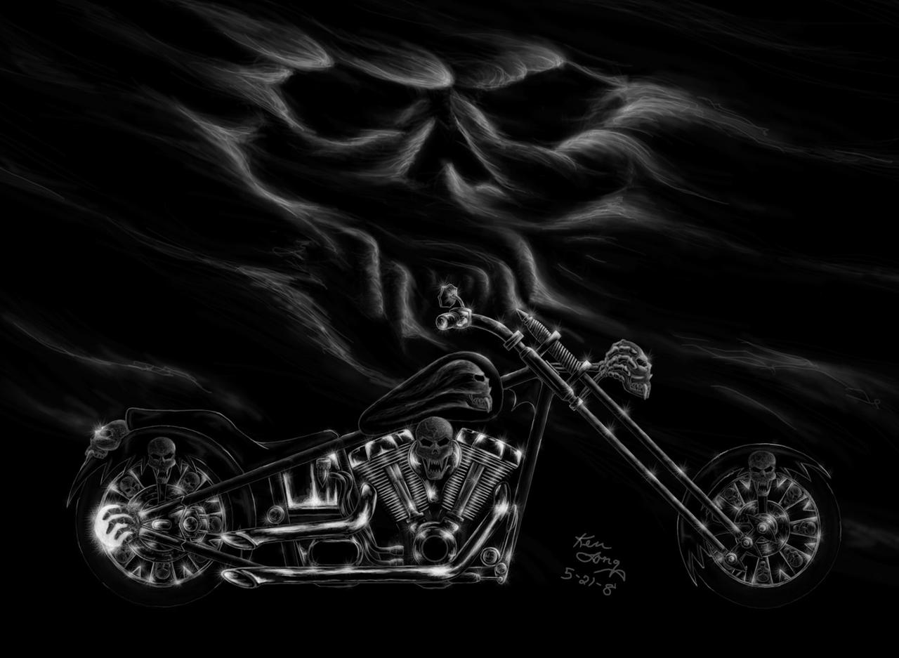 Harley Davidson Skull Logo Wallpaper 2 Large By