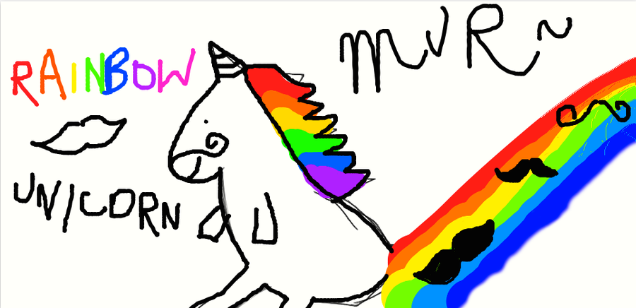 RAINBOW MUSTACHE UNICORN by carolchiu on DeviantArtUnicorns With Mustaches