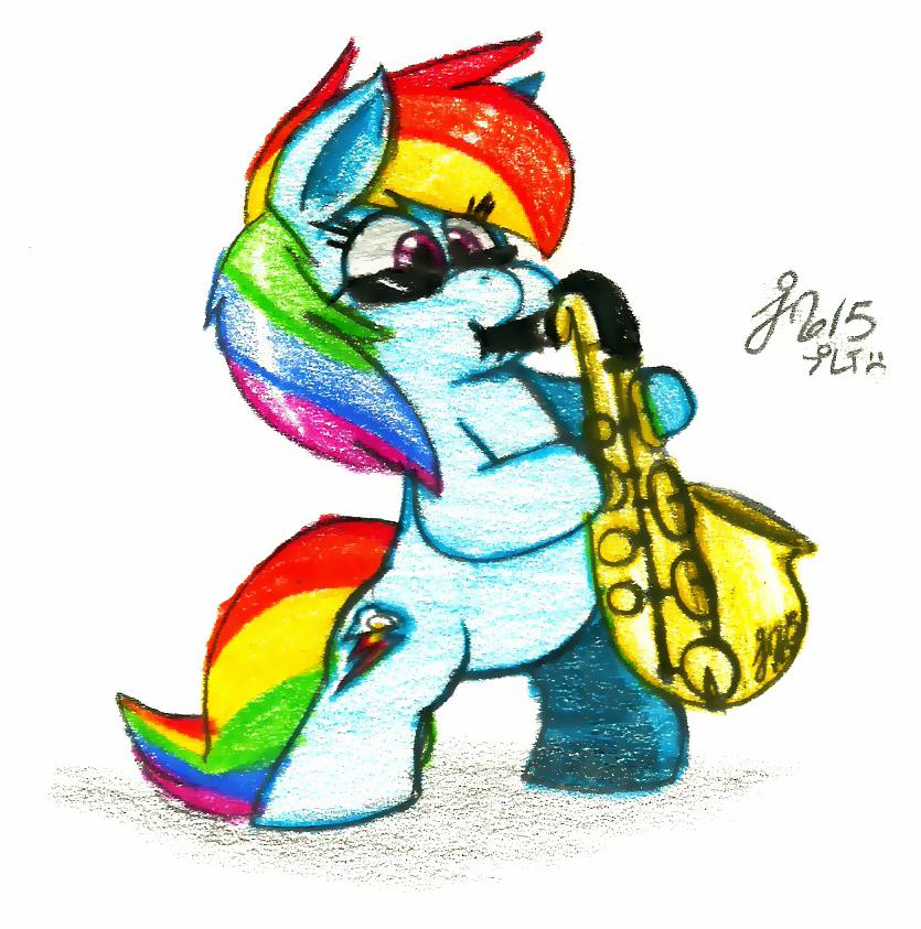 Dashie's Saxophone by Jusu-Tengu