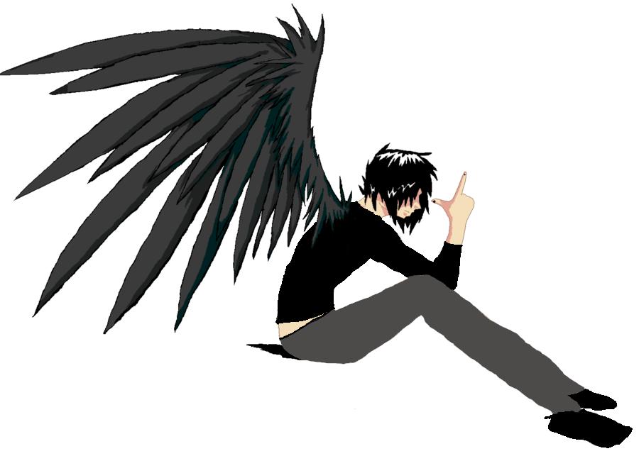Anime Fallen Angel Sketch