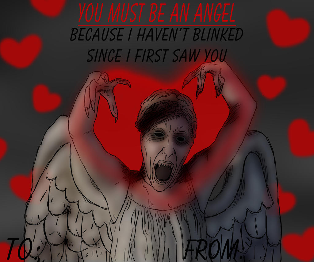 Doctor Who Valentine's Card : You Must Be An Angel
